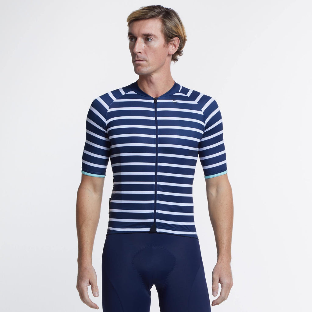 VELOCIO BRETON MENS JERSEY NAVY - CHAINSMITH BIKE SHOP
