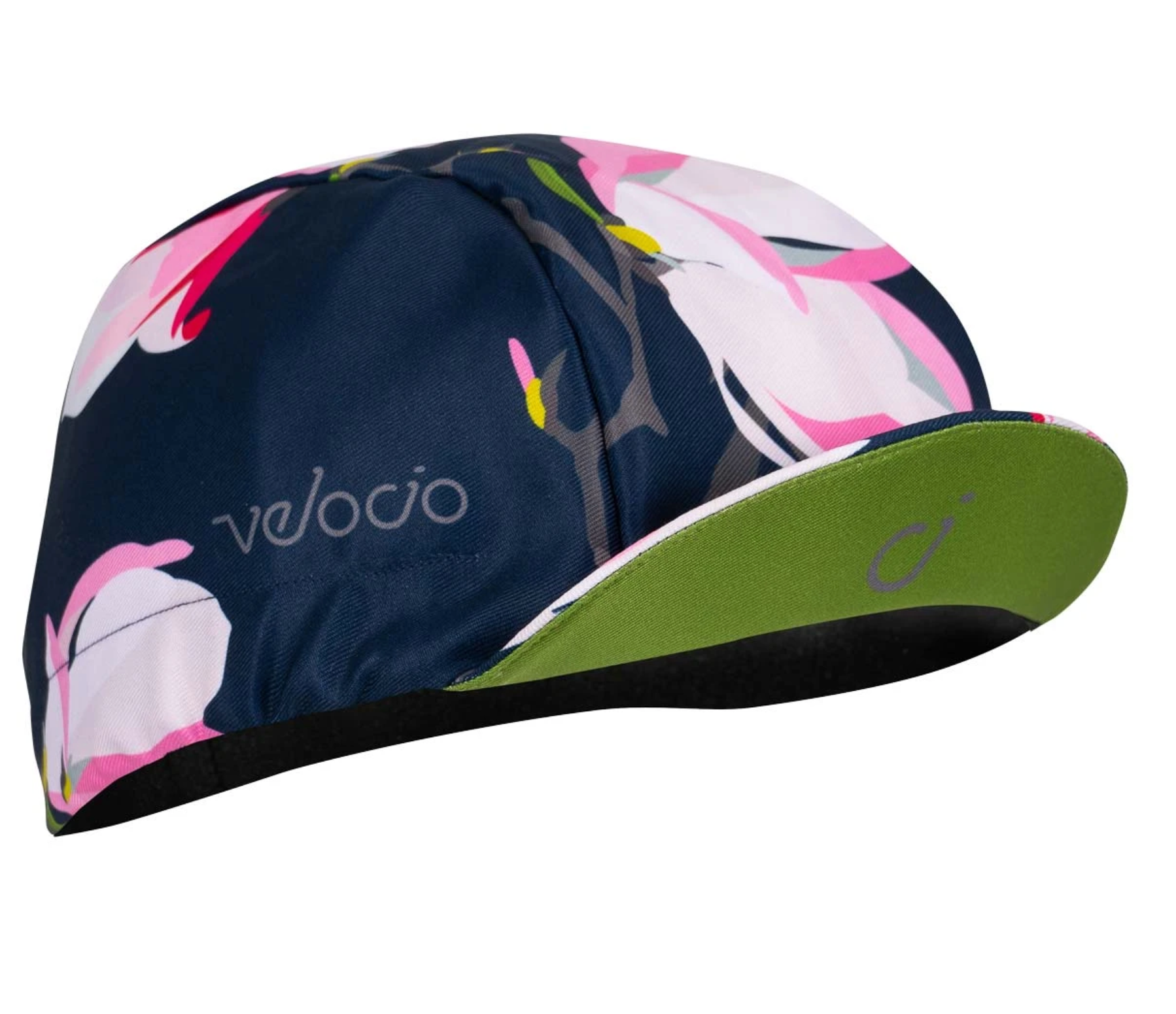 CYCLING CAP WITH FLORAL DESIGN BY VELOCIO