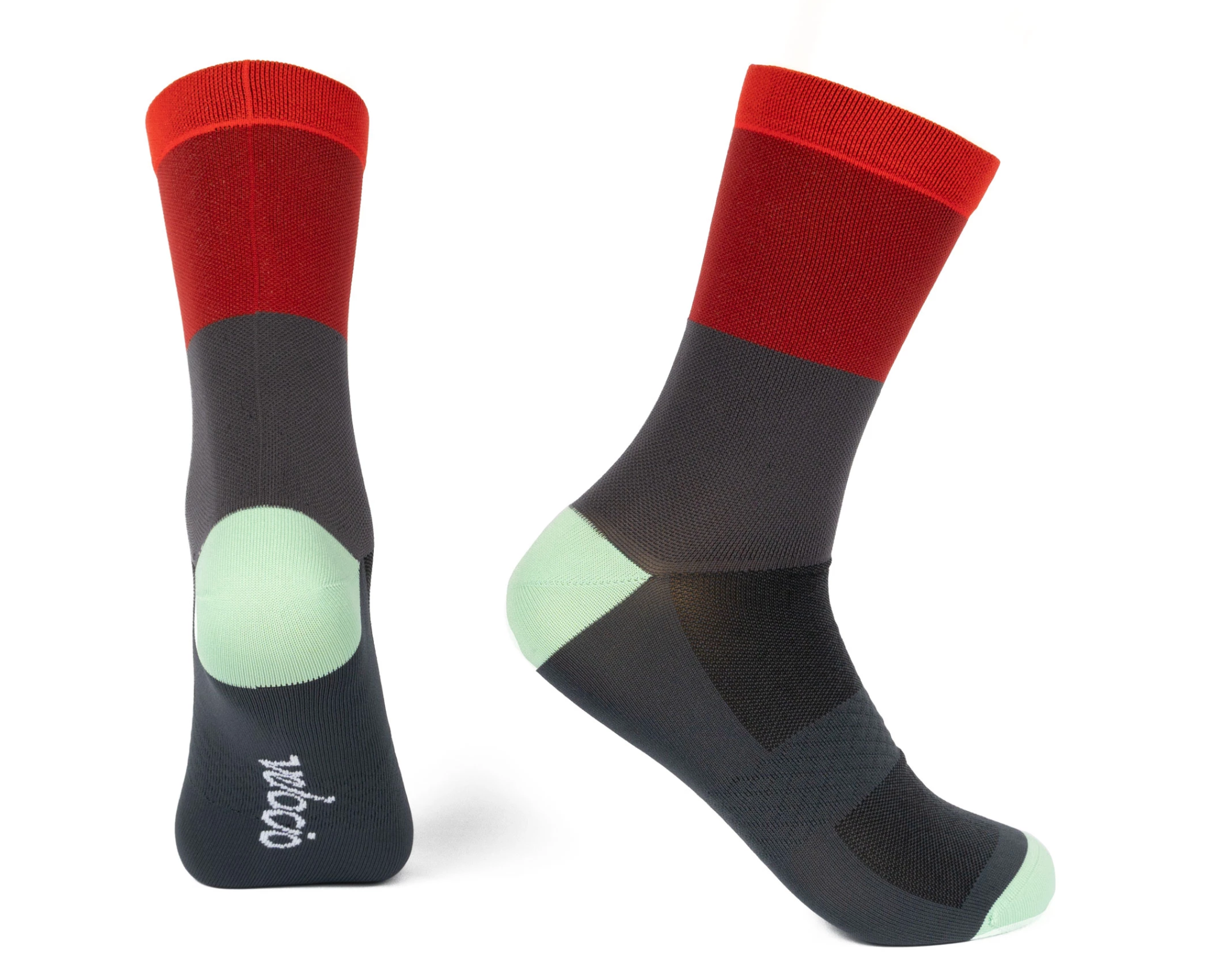 VELOCIO SOCKS TRI COLOUR ARMY RED