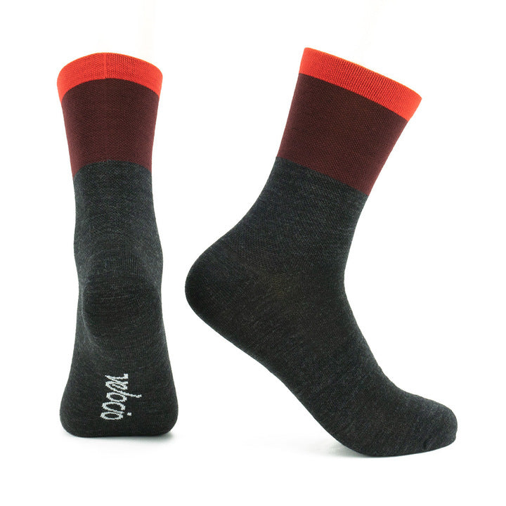 VELOCIO SOCKS TRI COLOUR WOOLEN WARMER