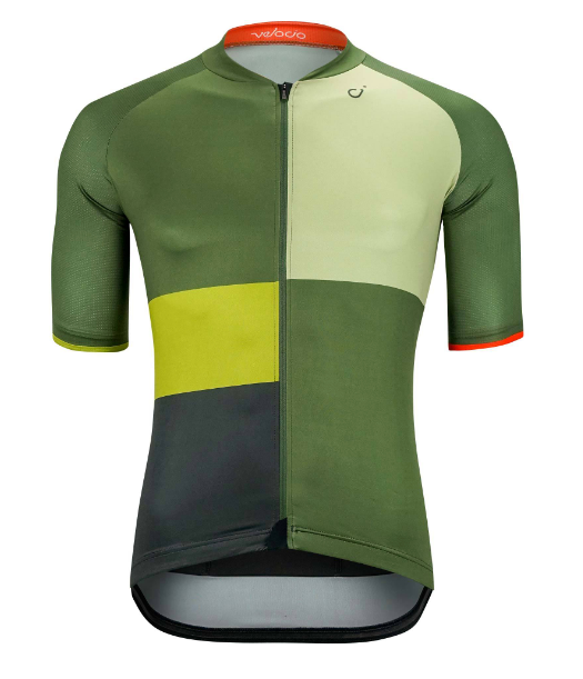 VELOCIO SE MULTI COLOR MENS JERSEY OLIVE GREEN