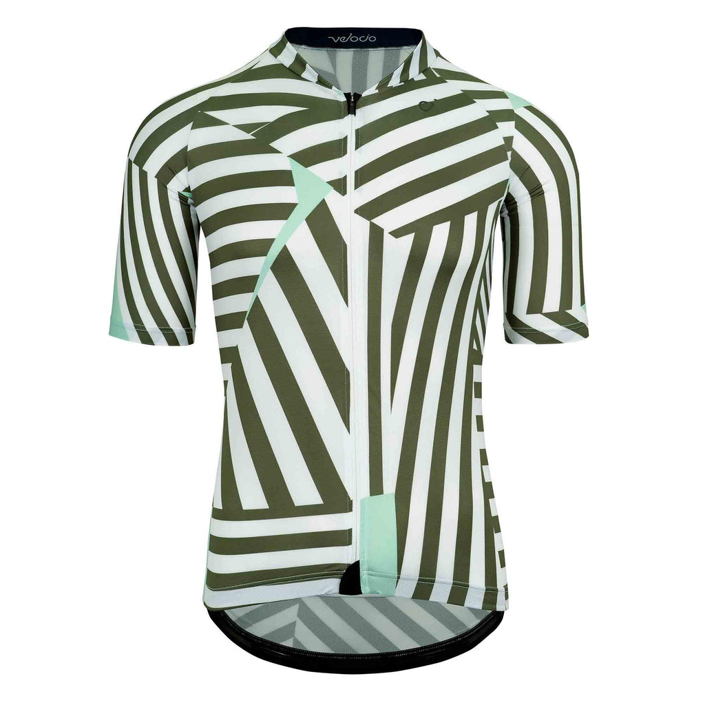 VELOCIO DAZZLE ULTRALIGHT MENS JERSEY DARK OLIVE - CHAINSMITH BIKE SHOP