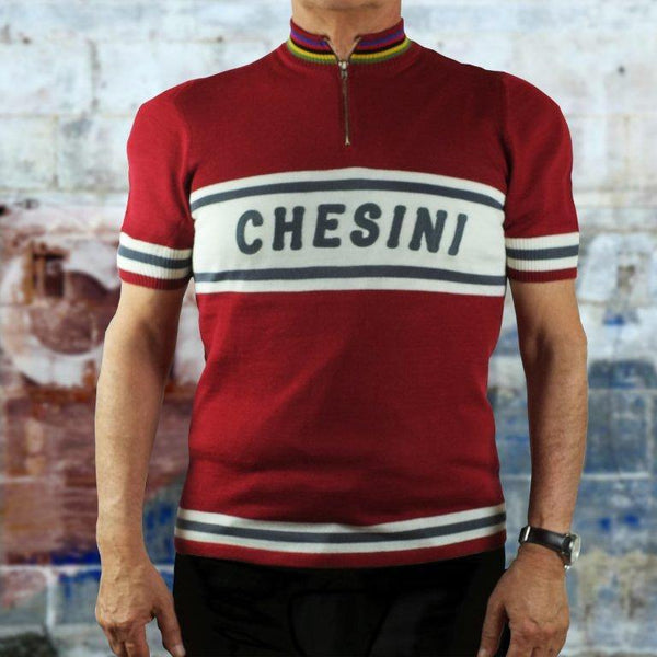 CHESINI MENS JERSEY WOOLEN SHORT SLEEVE