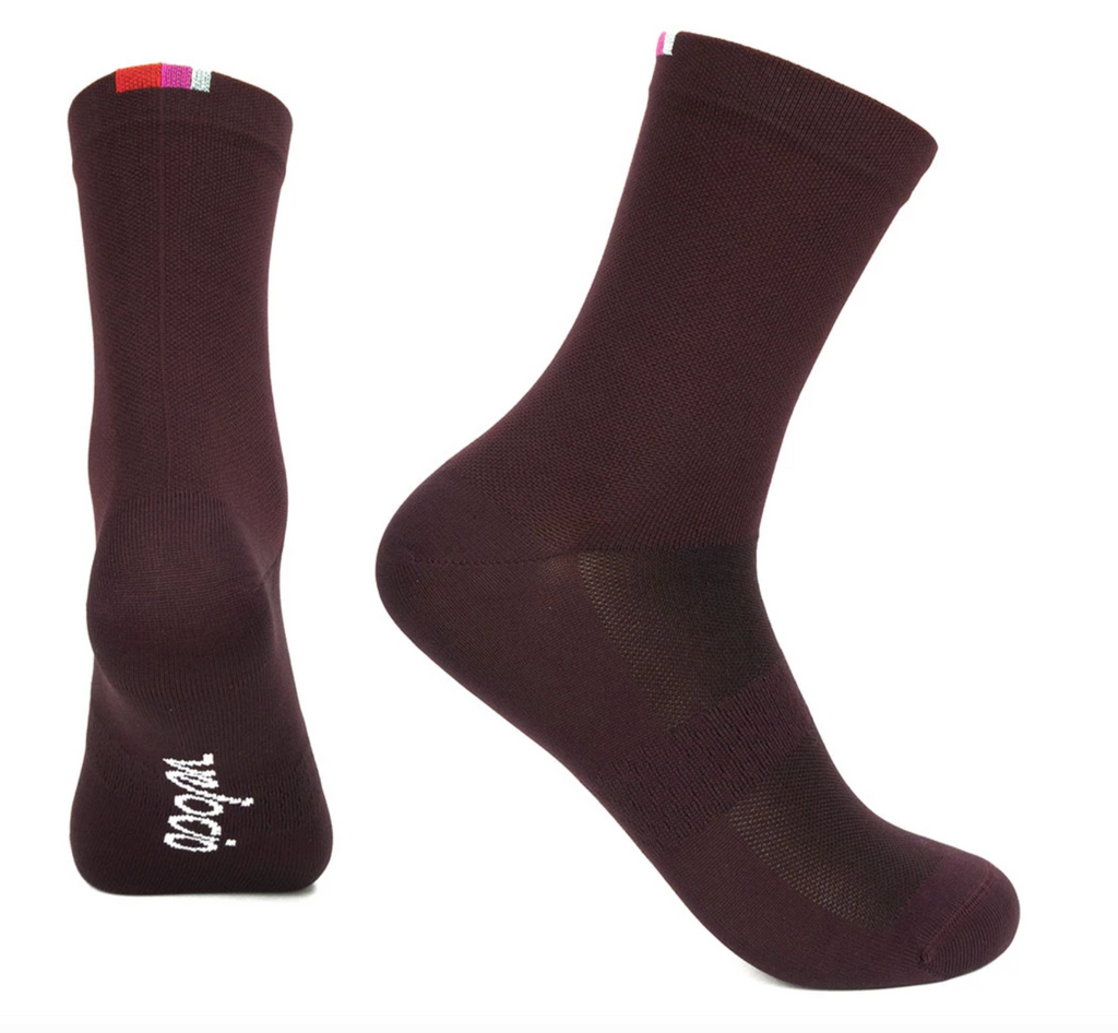 VELOCIO SOCKS SIGNATURE BLACK CHERRY
