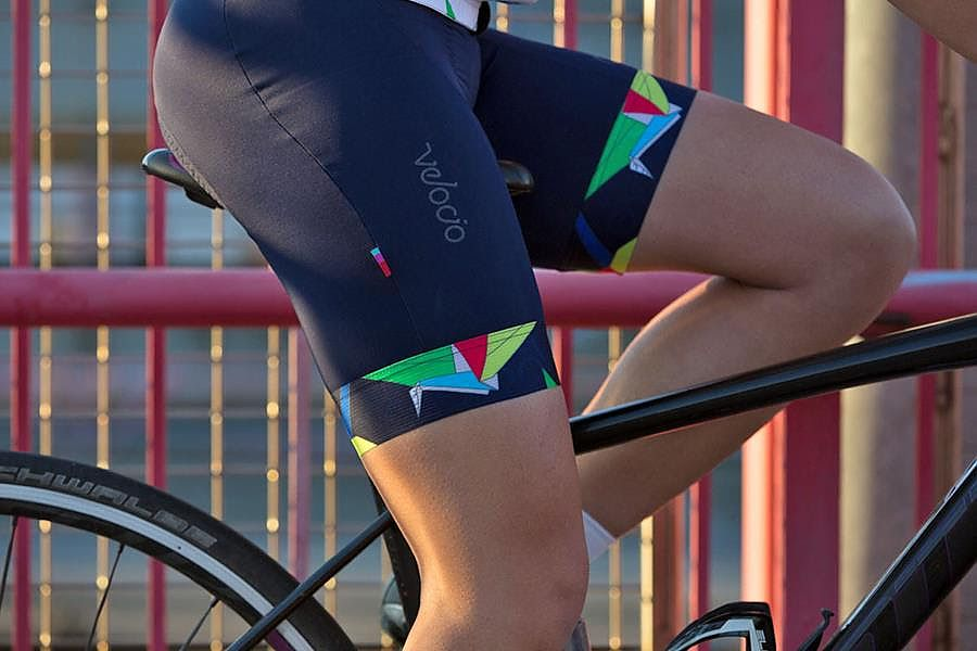 VELOCIO WOMENS BIB SHORTS - ORIGAMI - FINAL SALE