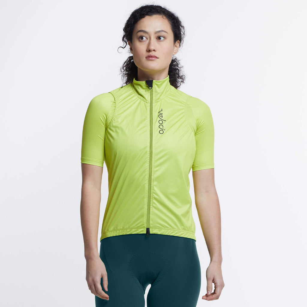 VELOCIO WOMENS WIND VEST CITRON