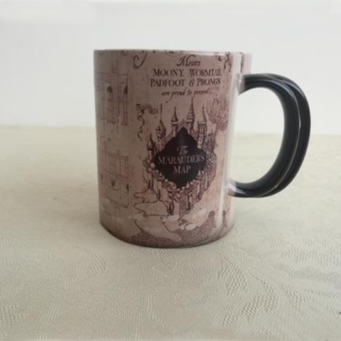 "Hogwarts Magical Color Changing) Marauders Map Mug ""I Solemnly Swear That I Am Up To No Good... Mischief Managed"". Now With Free Shipping"