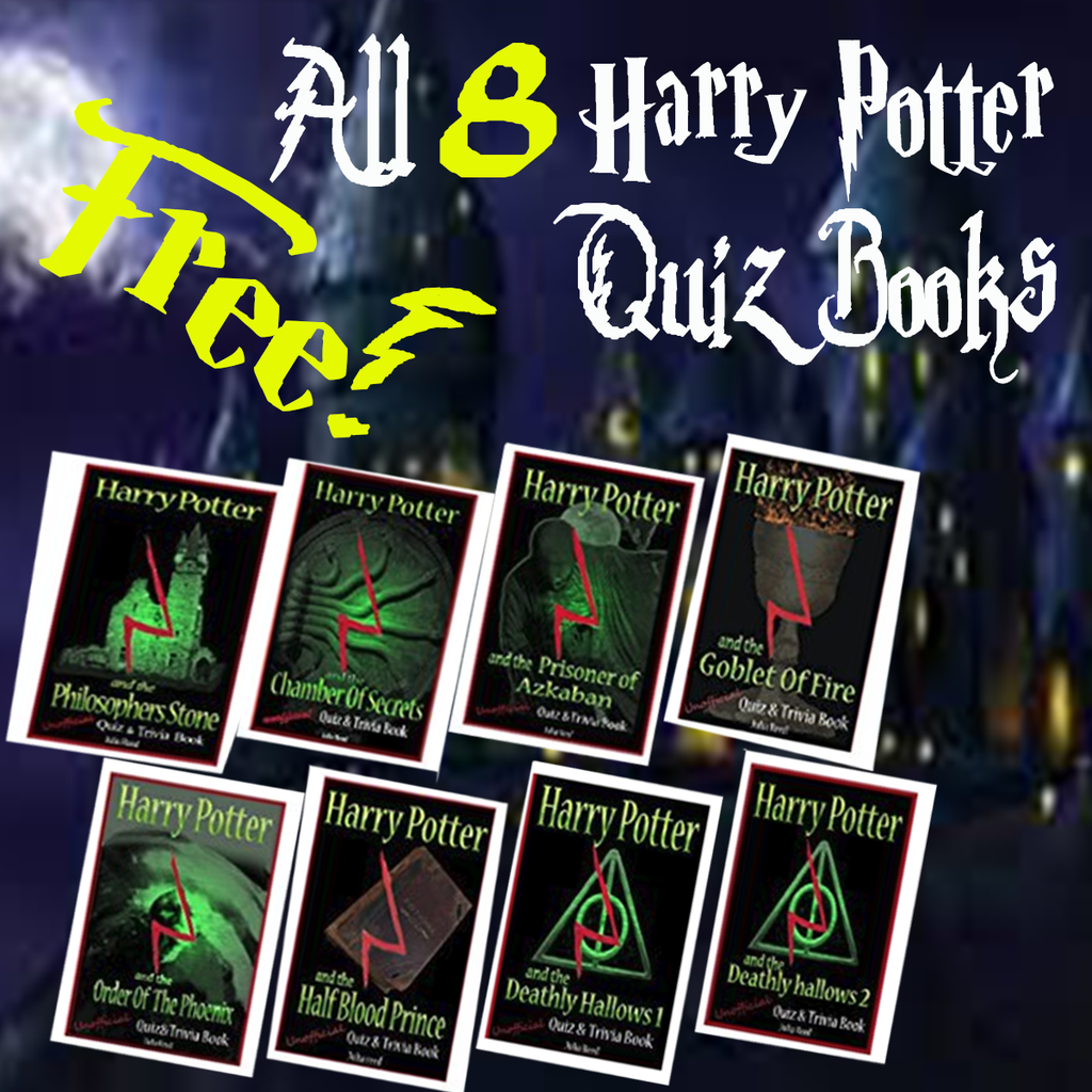 FREE! ALL 8 HARRY POTTER QUIZ BOOKS With Any Harry Potter Purchase !