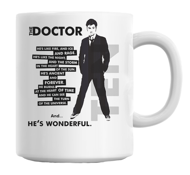"Doctor Who ""He's Wonderful"" Mug"
