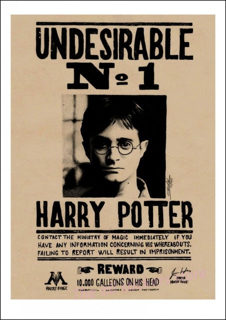 Harry Potter  Undesirable No.1 Vintage Retro Poster