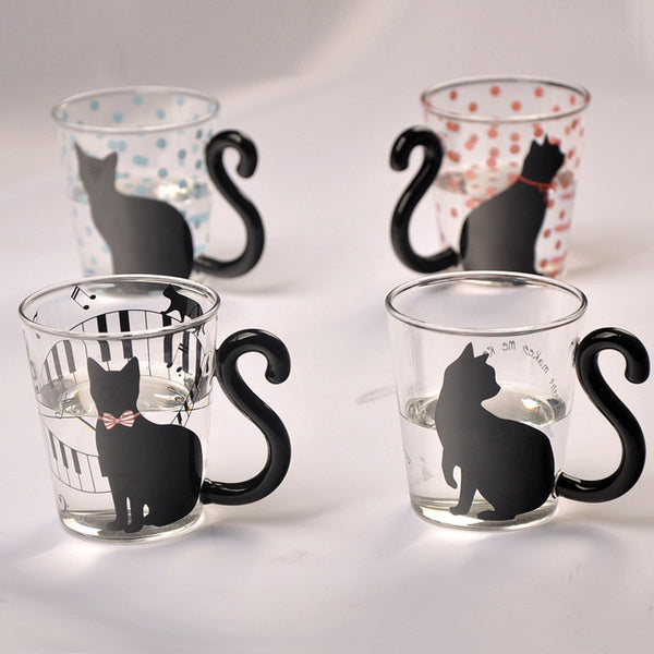 Cute Creative Cat Glass Mug