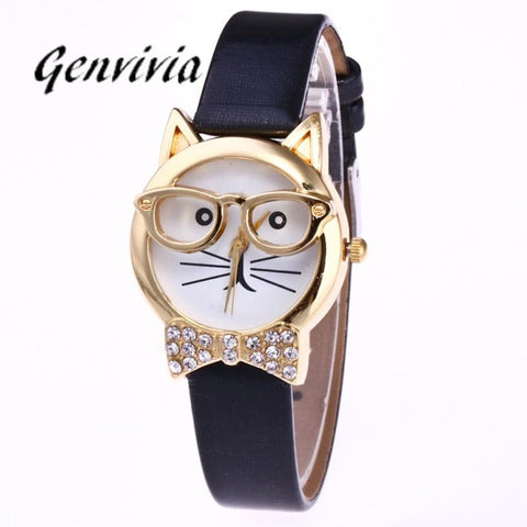 Stylish Girls Cat Watch