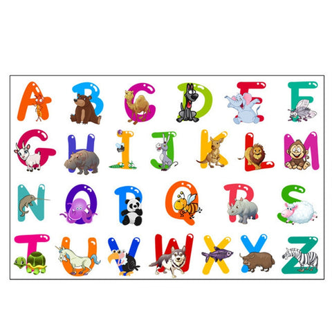 Removable Wall Decal Animals Letters Sticker