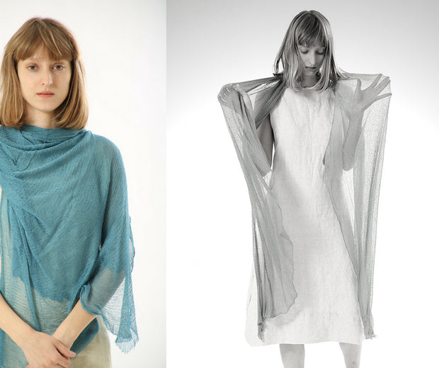 Air Bamboo Sheer Scarf - Teal