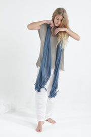 Peacock blue Big Air Bamboo Light Scarf