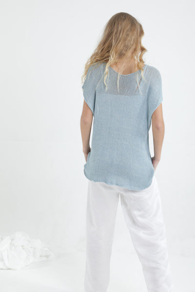 Aqua Loose Giza Bamboo & Cotton sleeveless knit top