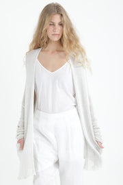 Beka loose cardigan with pockets in Broken white