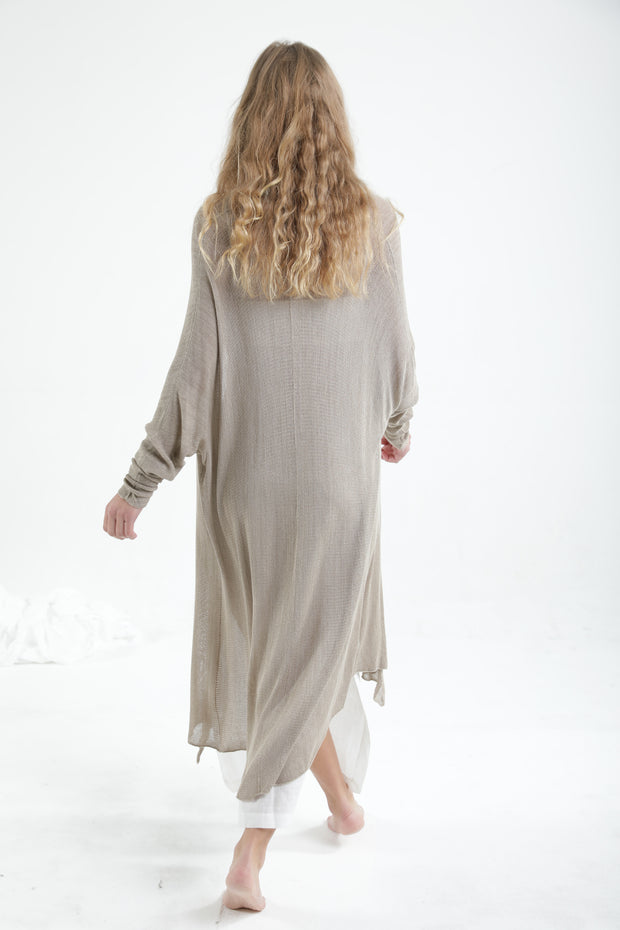 Long Gin Bamboo Oatmeal Cardigan