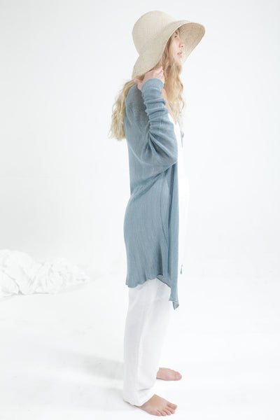 Light Blue Meza Bamboo Cardigan
