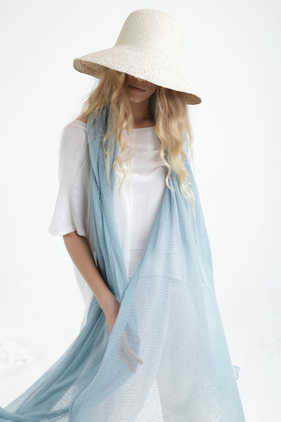 Light Blue Big Air Bamboo Light Scarf