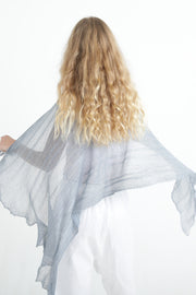 Ripples Bamboo Scarf- Silver Blue