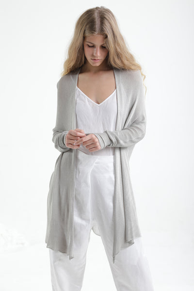 Light Gray Meza Bamboo Cardigan