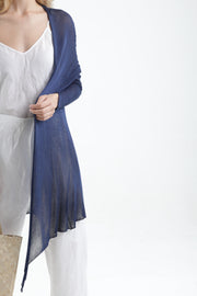 Deep Indigo Navy Blue Long Bamboo Cardigan