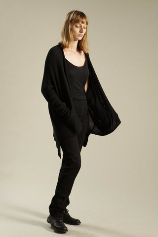 Black Cardigan Soy Sweater - Kisim