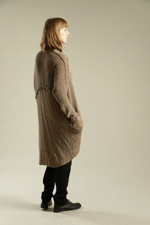 Camel Dark Taupe Chunky Sweater