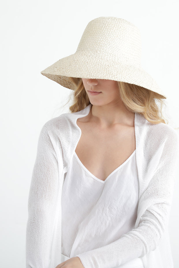 White Short Light Bamboo Cardigan