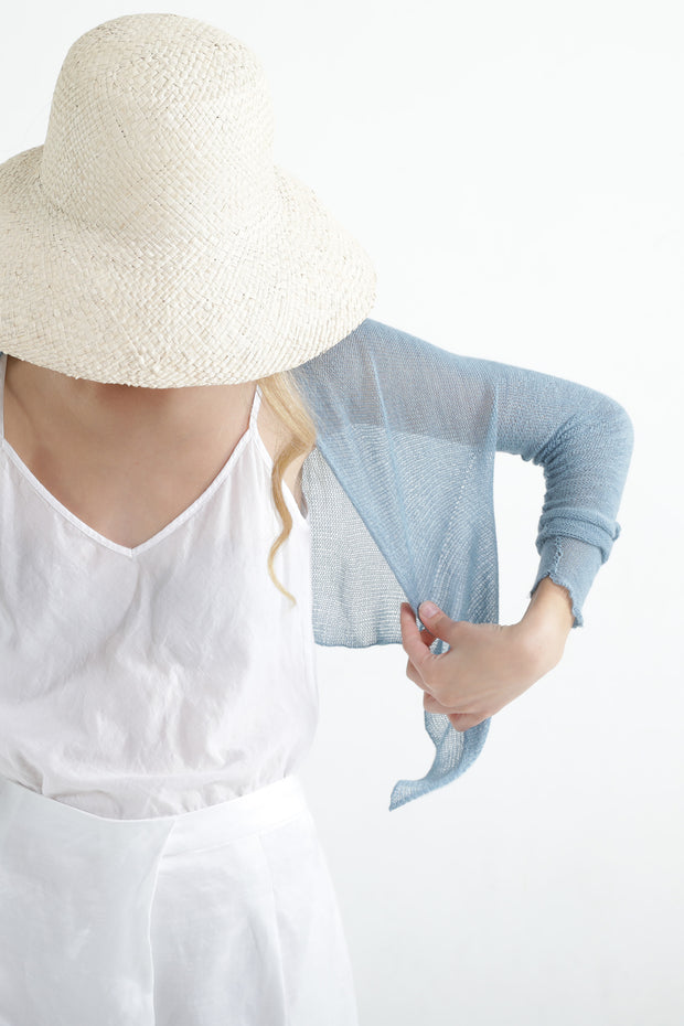 Sky Blue Short Light Bamboo Cardigan