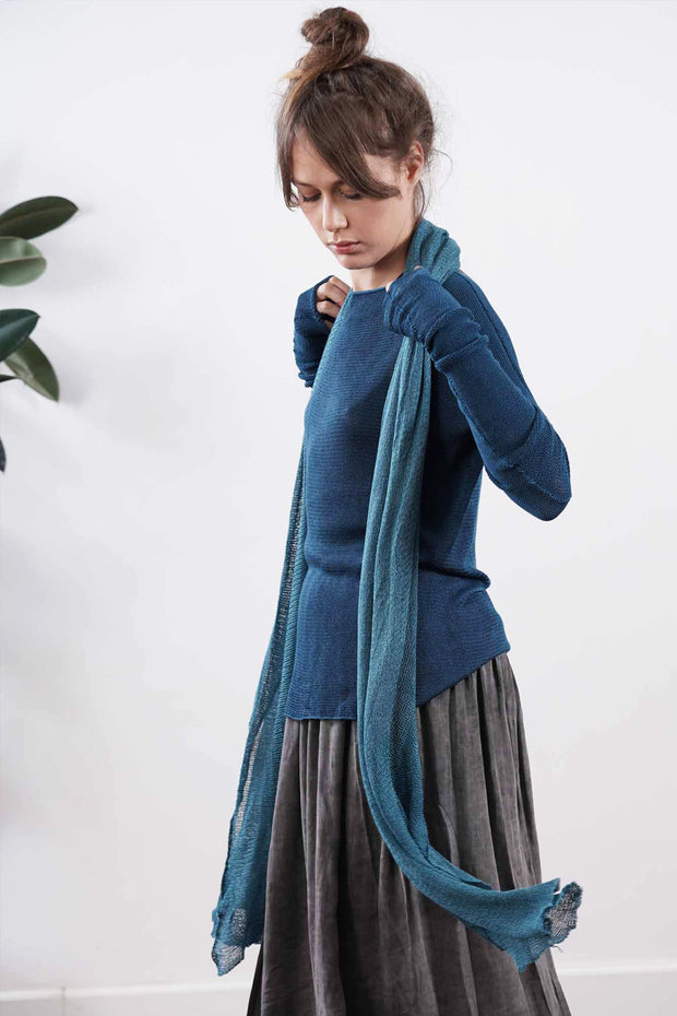 Big Bamboo Air Knit Scarf - Teal, Turquoise