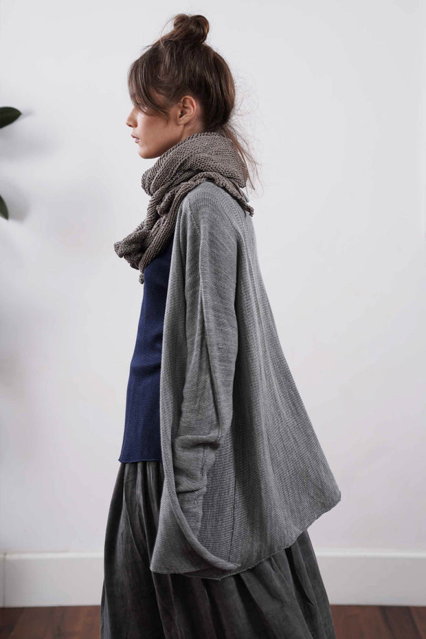Tasitura Jacket Sweater - Fog Grey