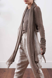 Big Air Bamboo knit Scarf -  Dark Brown / Light Brown