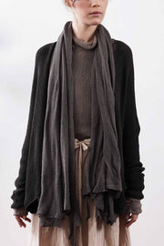Big Soy Air Scarf - Dark Taupe / Sand