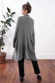 Long Beka Soy Cardigan - Fog Gray