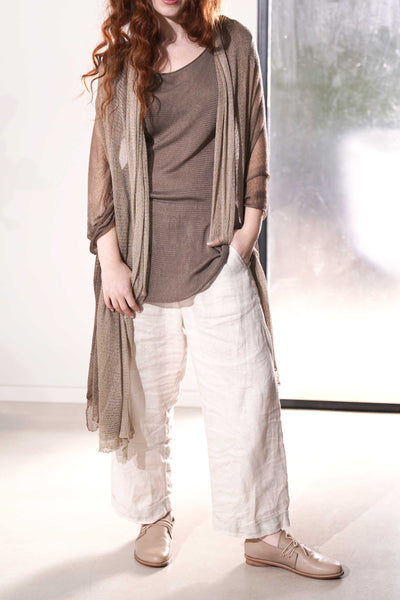 Aqvarelle Big Air Bamboo Sheer Scarf -Brown