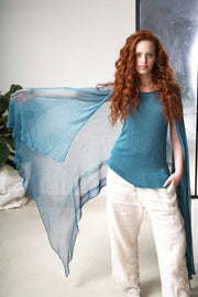 Aqvarelle Big Air Bamboo Sheer Scarf -Turquoise