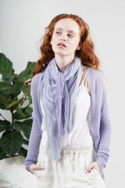 Aqvarelle Ripples Bamboo Scarf - Sage Green