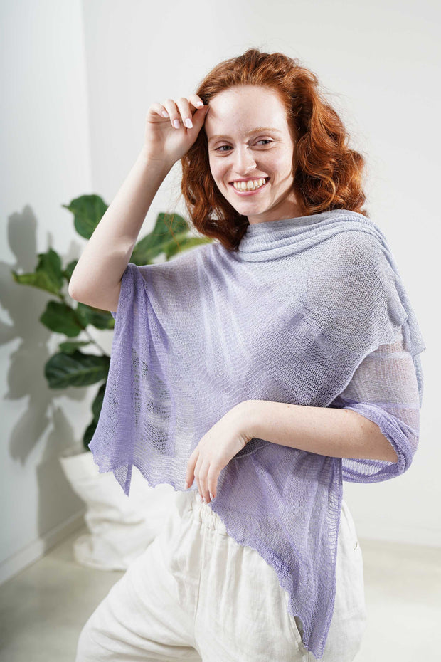 Aqvarelle Ripples Bamboo Scarf - Lavender light purple