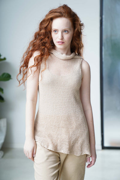 Wrap Vest - Powder Pink Nude