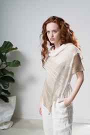 Aqvarelle Ripples Bamboo Scarf - Ivory