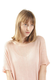 Ivory Boat neck loose knit T- shirt