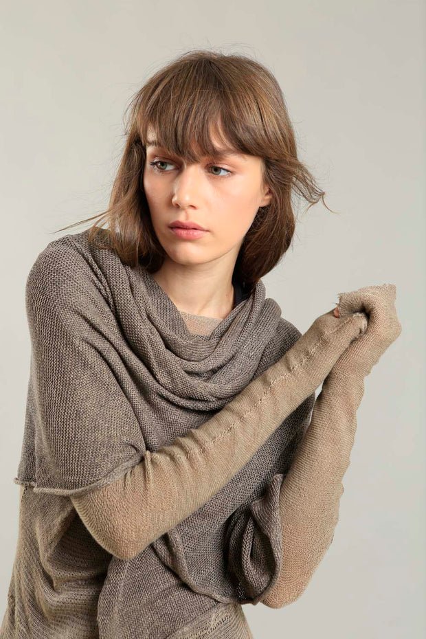 Bamboo, Soy & Cotton Metalo Scarf - Dark Taupe