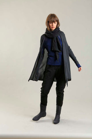 Charcoal Long Soy light Cardigan