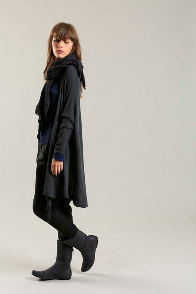 Gin Long Soy light Cardigan in Charcoal
