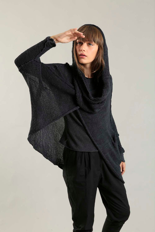 Charcoal Cozy Oversized Sweater with Pockets