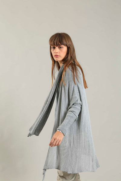 Orta Light Bamboo & Soy warm Cardigan - Fog Silver Grey