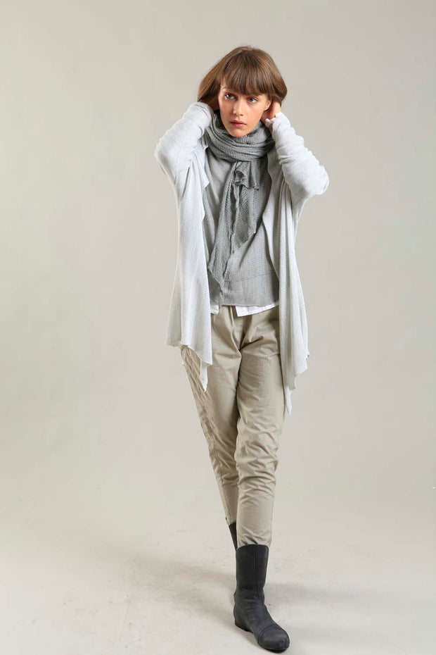 Broken White Meza Long Bamboo light Cardigan