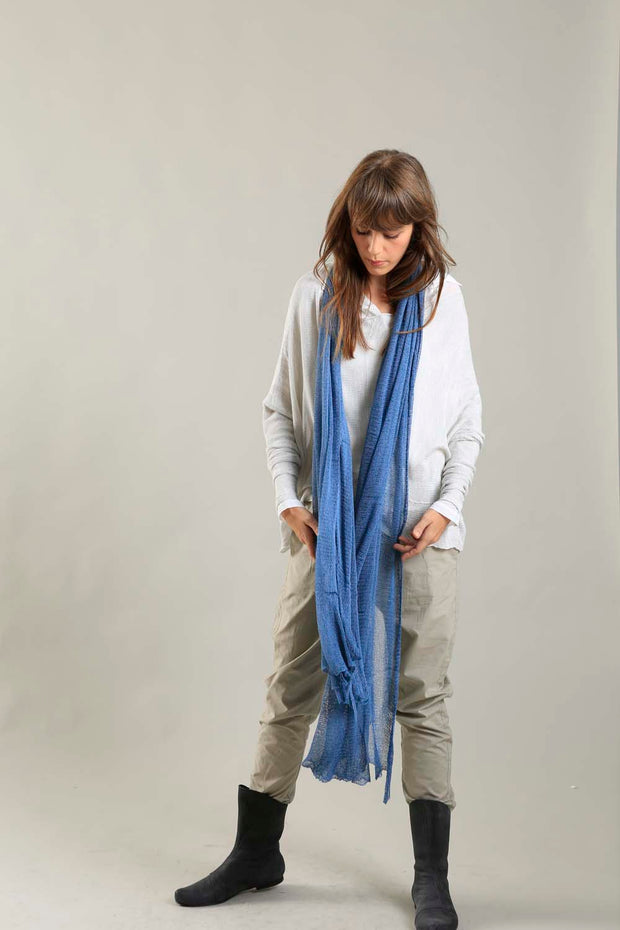 Big Air Bamboo Sheer Scarf - Peacock Blue
